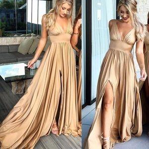 Dresses & Skirts - Gold Formal Dress
